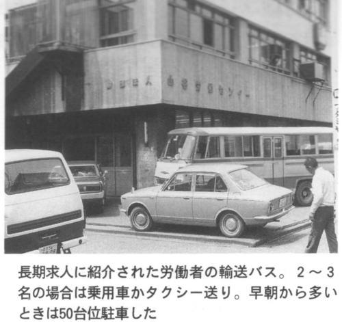 労働者の輸送バス