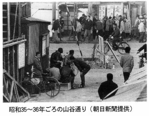 昭和35~36年ごろの山谷通り