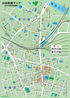 山谷地域マップ