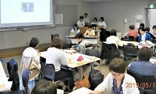写真:看護理論グループワーク発表
